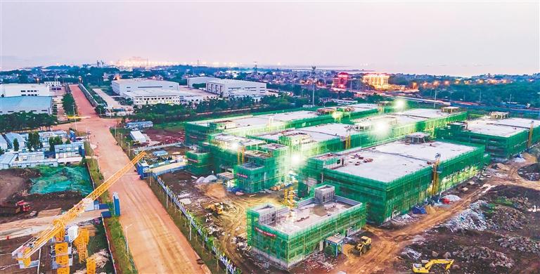 洋浦保税港区标准厂房工程加快建设