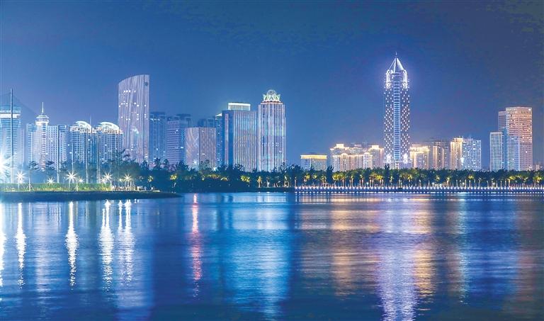海口湾夜景