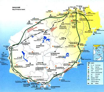 海南岛市县分布图