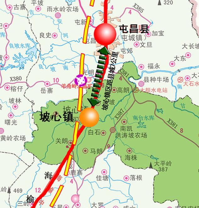海南中线高速路地图